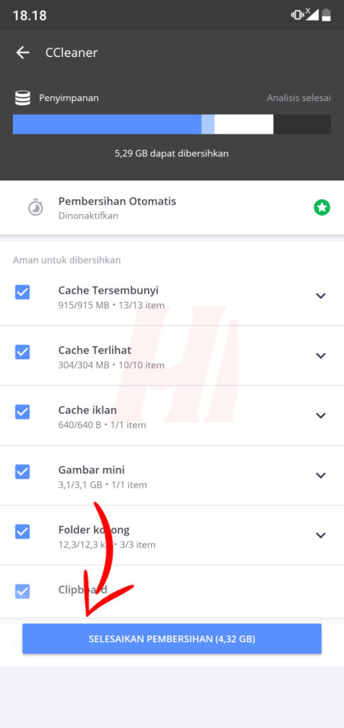 Proses Analisis CCleaner