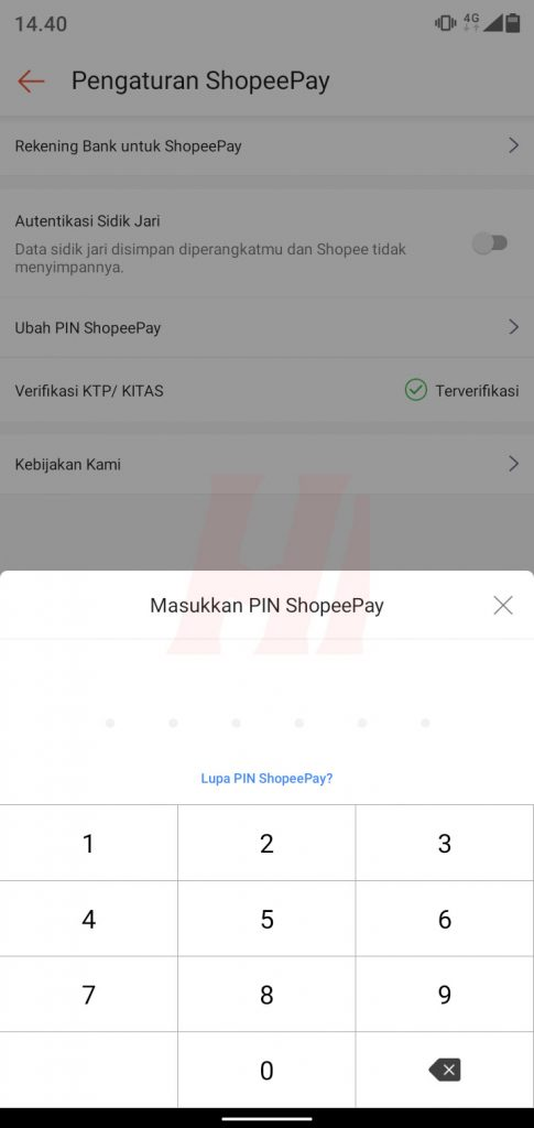 Verifikasi PIN ShopeePay