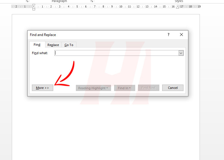 Find and Replace Microsoft Word